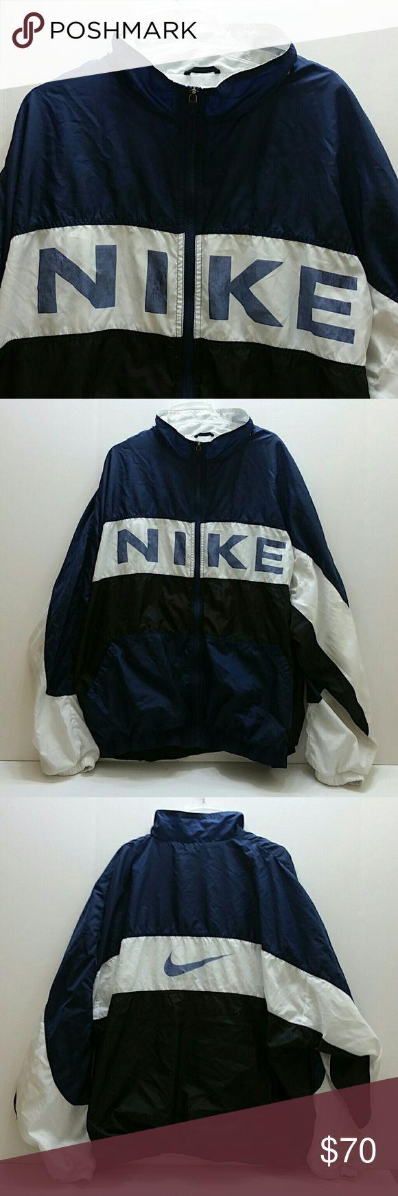 NIKE VINTAGE MEN'S JACKET VERY CLEAN INSIDE-OUT   SKE # POT NIKE Jackets & Coats Windbreakers