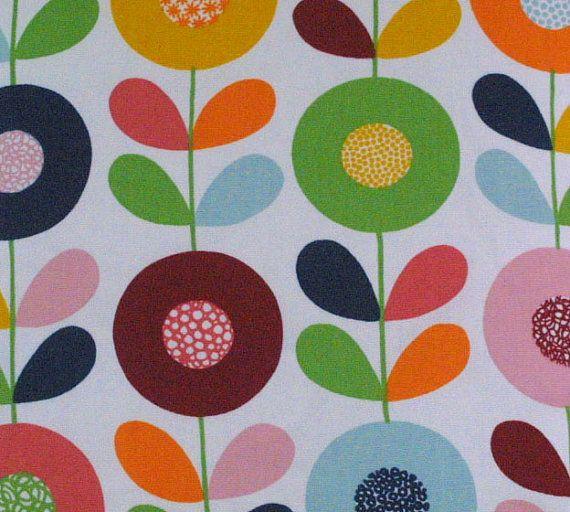Kinnamark Cirkelblomma Swedish Flowers Fabric by vintageuk, £10.00