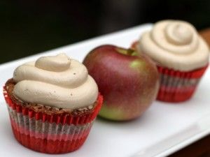 Apple Cupcakes with Brown Sugar Frosting
