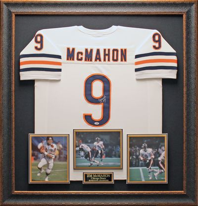 Jim McMahon Autographed Jersey Framed