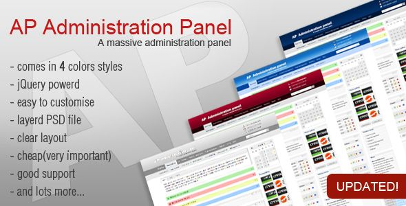 AP Administration Panel - Admin Templates Site Templates - $10