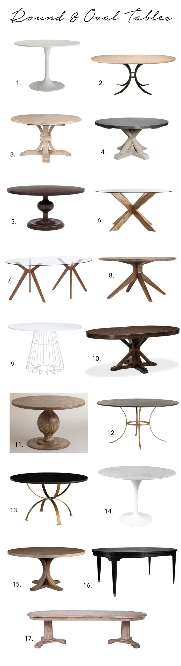 Round & Oval Tables