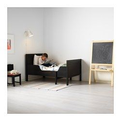 IKEA - SUNDVIK, Ext bed frame with slatted bed base, , Extendable, so it can be pulled out as your child grows.