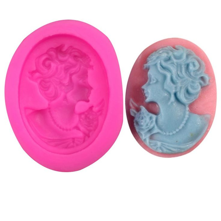 Single Victorian Beauty Face Silicone Mold  #siliconemolds #siliconemoulds #fondant #baking #cake #cakedecorating #cupcakes #cupcaketoppers #victorian #beauty #face #woman