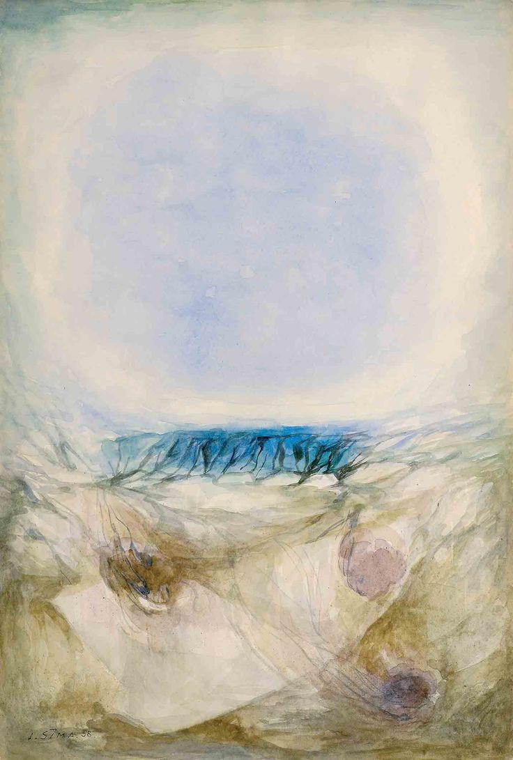 Joseph Sima (1891-1971) aquarelle