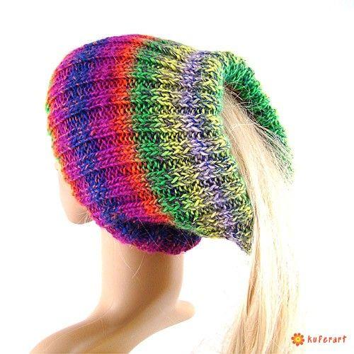 Komin-golf-czapka-tunel kolorowy - Czapki, berety - Ubrania