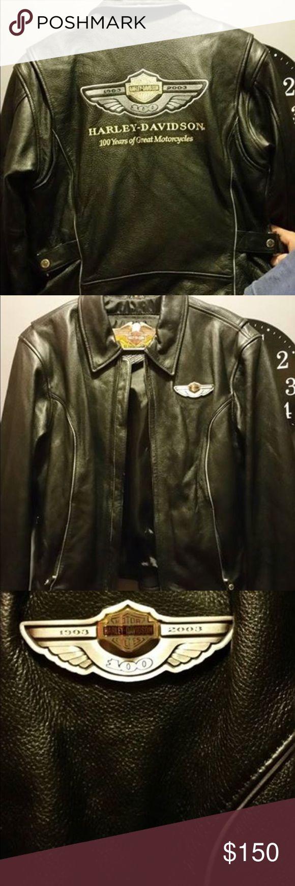 100tg anniversary Harley Davidson leather jacket Size medium women's Harley-Davidson Jackets & Coats
