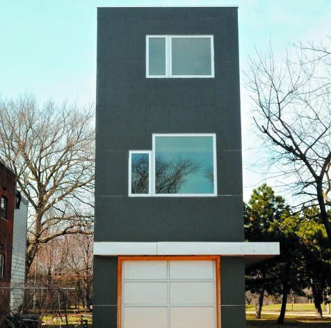 A 12.5 Foot Wide Skinny Chicago House, Architect Doug Sandberg