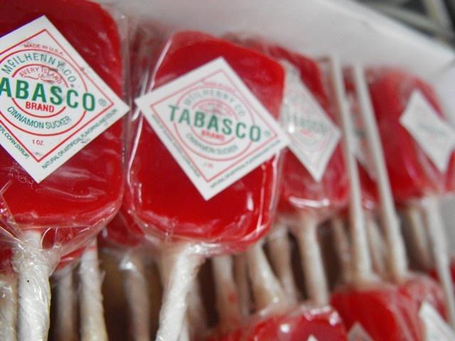Tabasco lollipops. We start them early in New Orleans, lol.