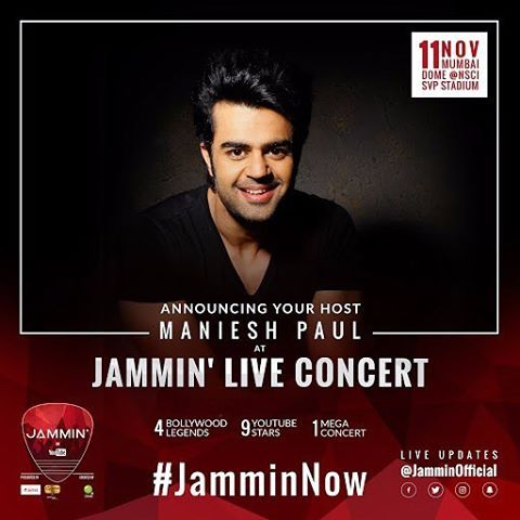 Hosting #jamminnow live concert tonite at #nscimumbai @jamminofficial ...gonna be one super evening!! See u guys there #mp #host #fun #music #sensational #live