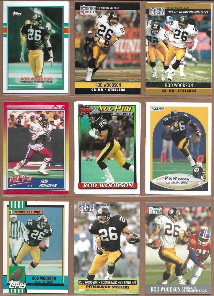 4347ff17b Pittsburgh Steelers Rod Woodson 1989-1993 NFL Football Card lot (13) cards # PittsburghSteelers