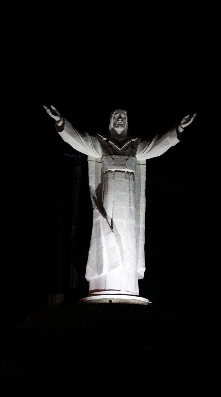 Figure Jesus THE KING in Świebodzin Poland