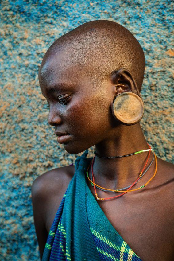 Portrait of a Suri Woman