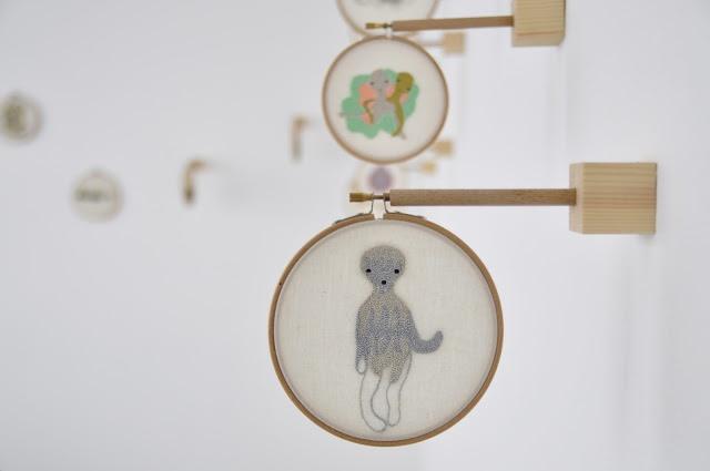 Laura Ameba embroidery Nidi Gallery Tokyo Exhibition craftbycat