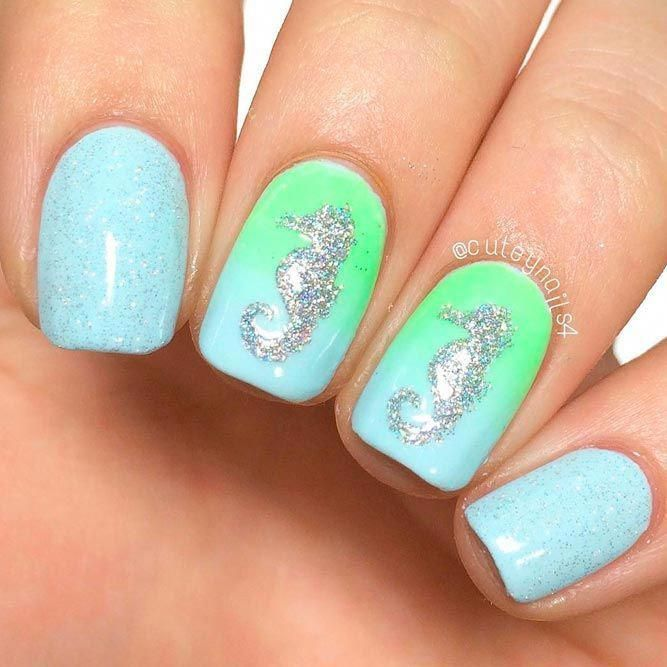 toe nail tips Gold Glitter #funsummernails