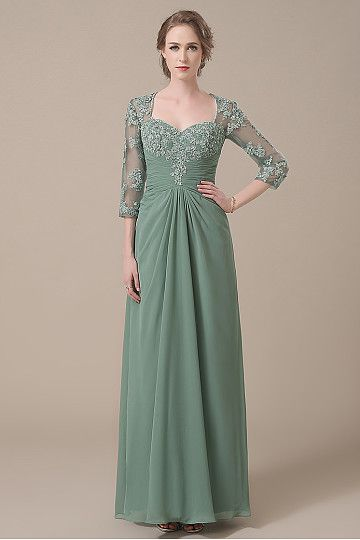 Moss Green Mother of the Bride Dresses