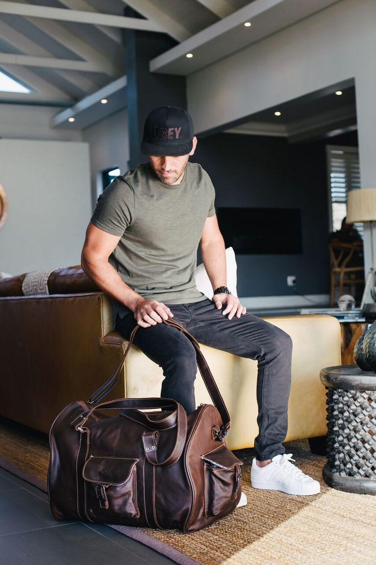 Men's Travel Bag - Tobacco Leather