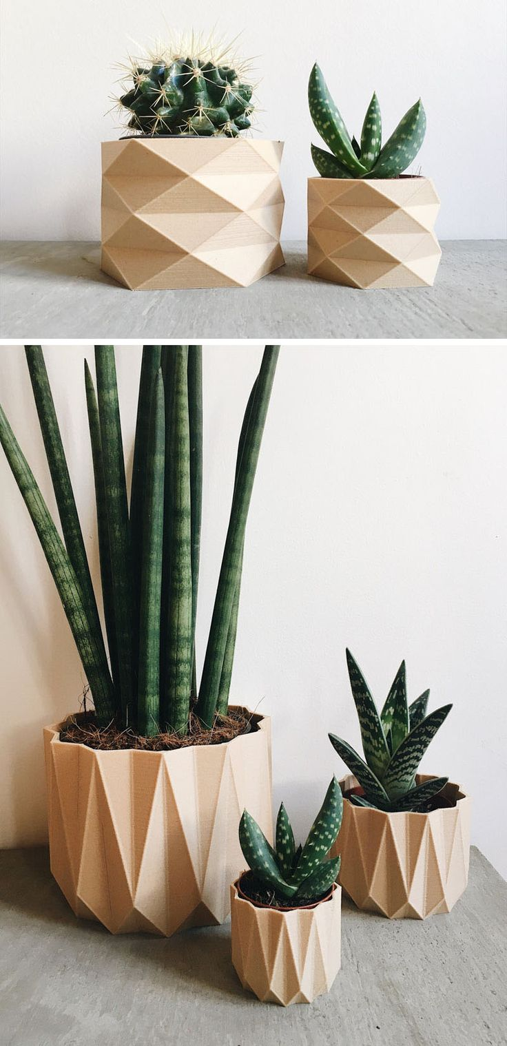 These Biodegradable Planters Are Made From 3d Printed Wood Recycled Home Decorrecycled