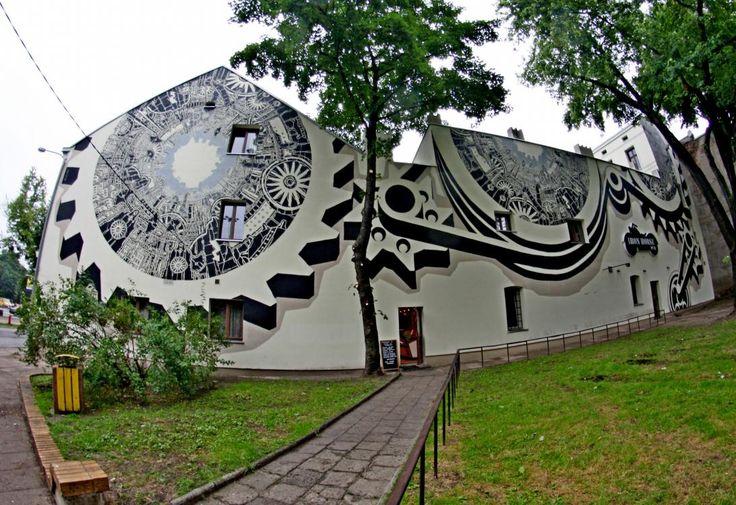 Poland, Lodz, murals, ul. Sienkiewicza