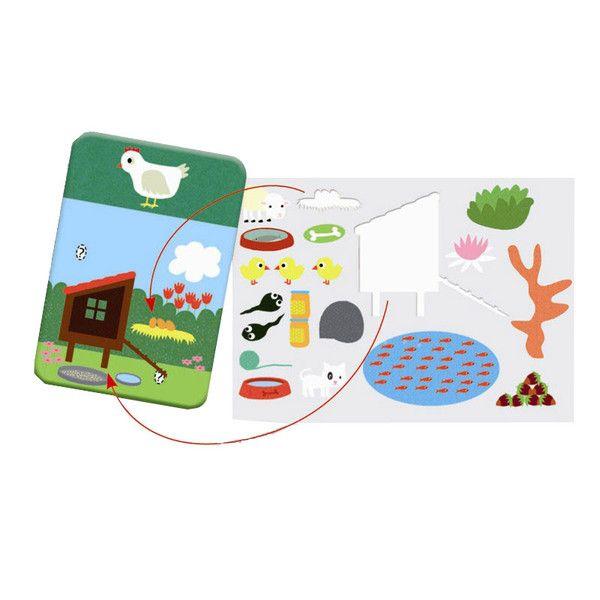 KREASÆT AF FORSKELLIG ART Edu´stick dyrespil fra Djeco, er lærerigt spil med opgavekort til børn fra 4 år. Indeholder 30 opgavekort, hvor barnet skal finde dyr og efterfølgende sætte de