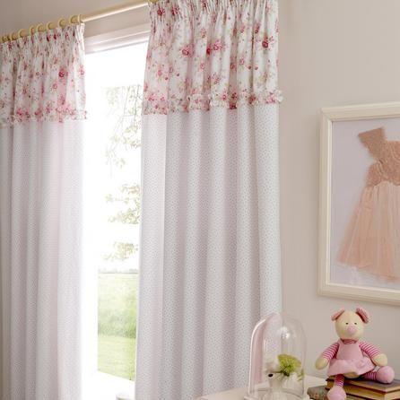 Dorma Woodland Collection Pink Curtains | Dunelm