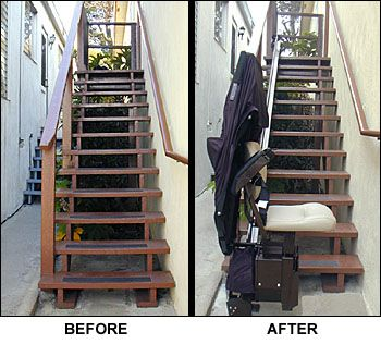 A Safe Way To Negotiate An Outdoor Stairway   Install An Outdoor Stairlift