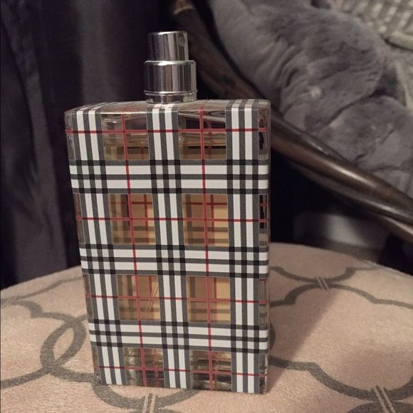 Burberry Perfume TESTER BOTTLE Brit by Burberry. Missing the cap. Just a couple sprays short of a full bottle. 3.3 oz. Purchased recently from boutique that was no longer selling this brand. Burberry Other