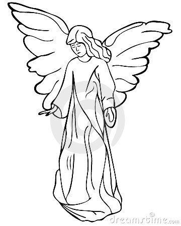 De tekening van de engel