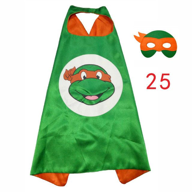 Teenage Mutant Ninja Turtles Mask Cloak Cape 2017 Party Decoration Supplies