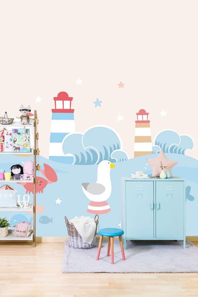 Papeles pintados infantiles y murales de Mr Wonderful