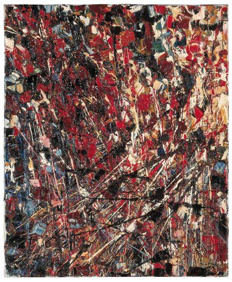 Jean Paul Riopelle, La Moisson, 1949, huile sur toile, 65 x 54 cm