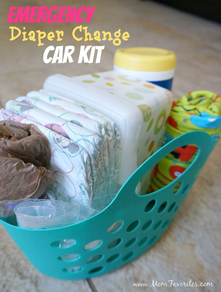 Road Trip Warriors and Car Pool Line Mavens - listen up! Be sure you're always prepared for blow outs (of the diaper variety) with this Emergency Diaper Change Car Kit!