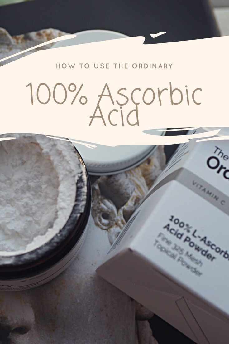 How To Use The Ordinary 100% L Ascorbic Acid Powder + Review Pinnable graphic