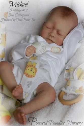 Reborn Baby Boy Prototype # 2 Michael By Jane Collingwood Ultra Realistic Doll