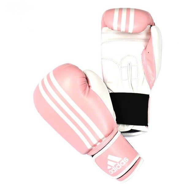 ADIDAS RESPONSE BOXING GLOVE PINK Pink/White ($34) ❤ liked on Polyvore featuring accessories, gloves, adidas, white leather gloves, pink leather gloves, white gloves and adidas gloves