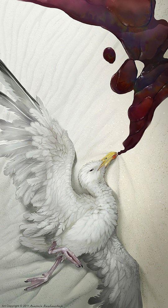 Surreal Animal Illustrations by Anastasia Korochansckaja