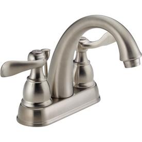 Guest BathDelta Windemere, Centerset Lavatory, Delta Faucets, Handles Centerset, Brushes Nickel, Bathroom Faucets, Lavatory Faucets, Master Bath, Faucets Drain