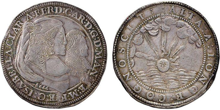 NumisBids: Nomisma Spa Auction 50, Lot 120 : MANTOVA Ferdinando Carlo Gonzaga (reggenza, 1665-1669) Ducatone 1666...