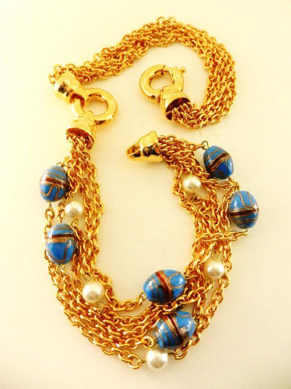 Glamour Italian CoutureMulti Chain pearls & by RAKcreations