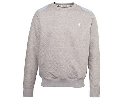 Grey Quilted Elbow Patch Sweat