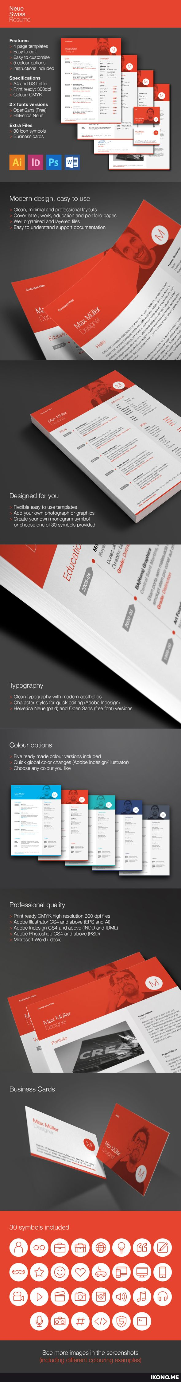 Simple Resume Templates%0A Neue Swiss Resume Template on Behance