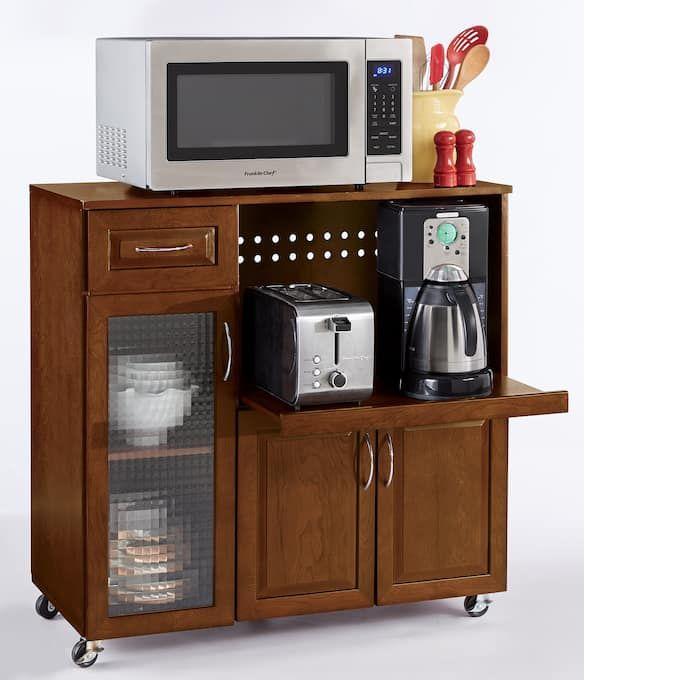 intel lowboy microwave stand kitchen