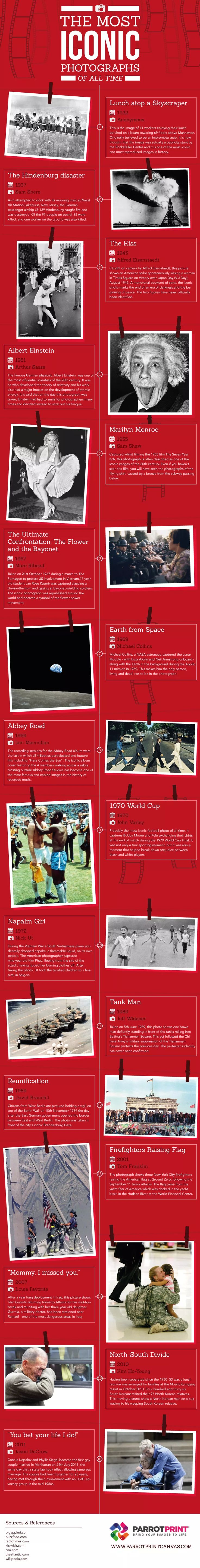 The Most Iconic Photographs of All Time #Infographic #History #Photography