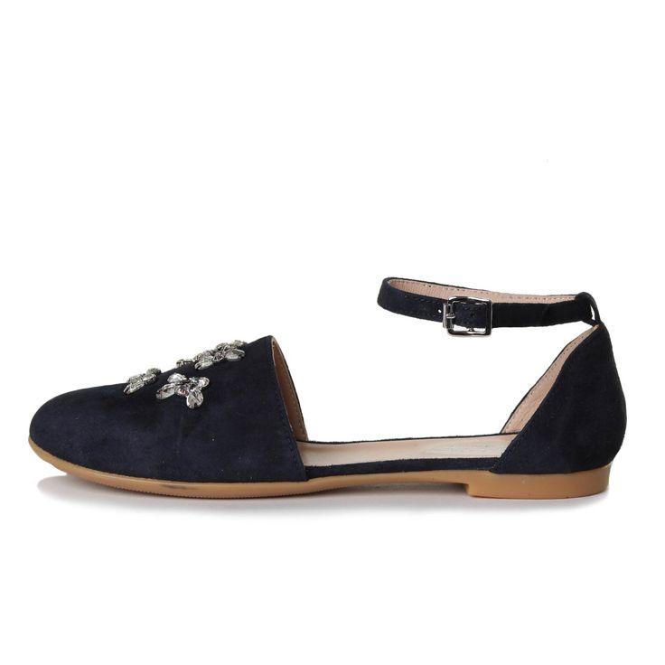 Ermanno Scervino - Sandalo Girl Blu - Eleganti sandali in suede e gomma firmati Ermanno Scervino Girl, vero made in Italy della nuova Collezione Primavera Estate 17 - Linea di calzature Teenager. #annameglio #shoponline #ermannoscervino #sandali #scarpefirmate