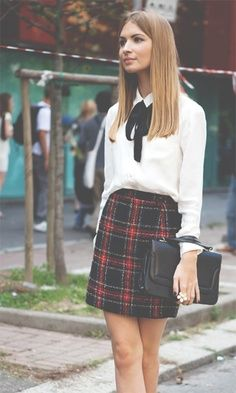 A really cute school uniform inspired look! I actually really love this style! <3