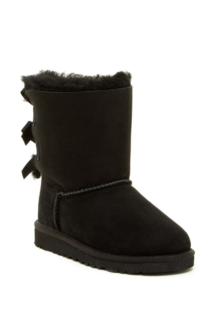 Bailey Genuine Sheepskin Lined Bow Boot (Little Kid & Big Kid)