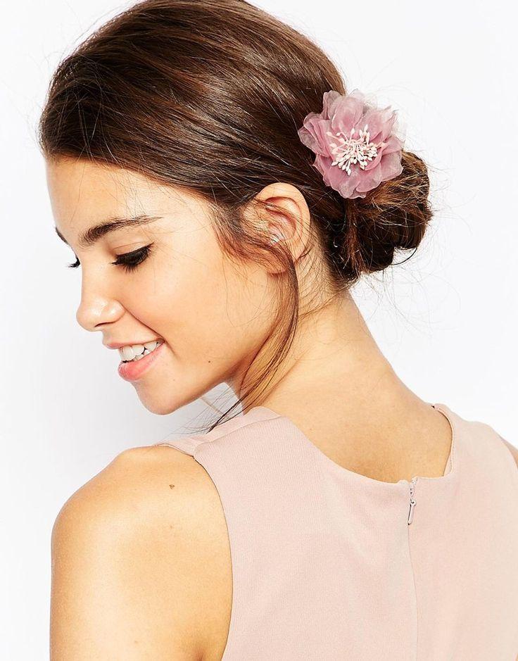 Image 1 - ASOS - Petite barrette avec rose cendrée
