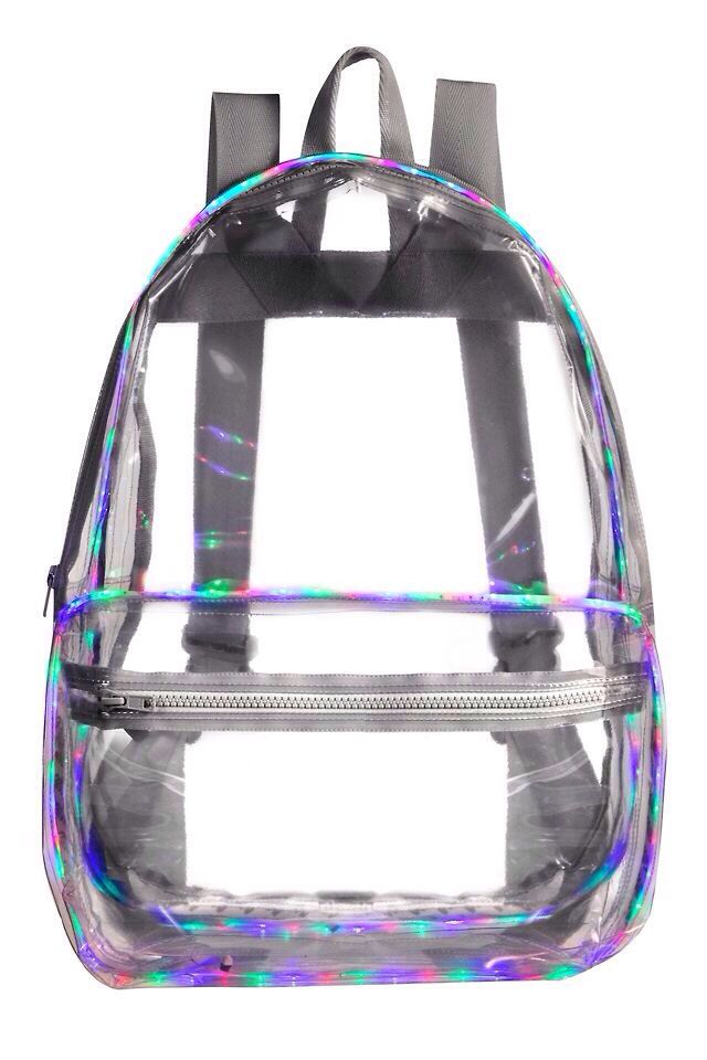 This is a nice backpack but it is transparent and it could see all the junk hidden in your bag.