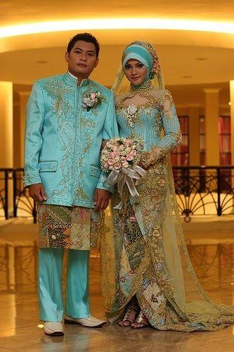 Noiva com Classe: Vestidos de noiva islâmicos-Malásia