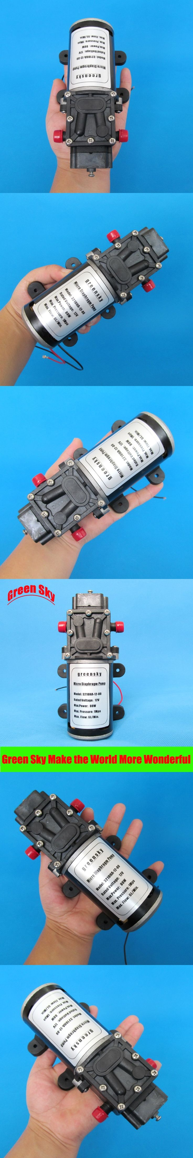 6L/Min 80W 12v dc return valve type high pressure mini diaphragm pump
